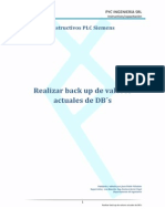 Backup de valores actuales de DB´s con STEP7