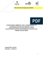 88927178 Plan de Manejo Ambiental Para El Mejoramiento en La Produccion Del Cafe de La Corporacion CANNOR