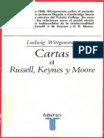 Wittgenstein Cartas a Russell Keynes y Moore