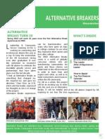 Alternative Breakers Newsletter