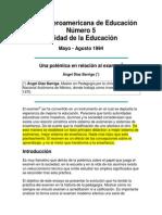 Polemica en Relación Al Examen Diaz Barriga