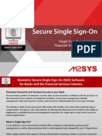 SSO - Single Sign on Solution for Banks and Financial Organizations