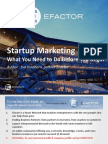 EFactor - Startup Marketing What You Need to Do Before You Begin