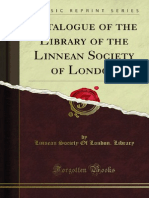 Catalogue of the Library of the Linnean Society of London 1000738530