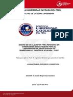Guerrero Johnny Diseño Elevador Personas Discapacidad Labortaorio Investigacion Biomecanica Robotica Aplicada Pucp