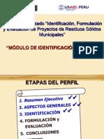 Modulo_de_Identificacion Para Formulacion de PIP de Residuos Solidos