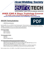AWS CWI Training Course Guidelines