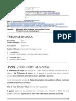 2/3-QUESTA E' LA VERA MAFIA !EMAIL Inviata Al Salone Della Giustizia