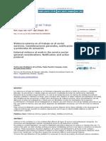 Medicina y Seguridad Del Trabajo - Violencia Externa en El Trabajo en El Sector Servicios_ Consideraciones Generales, Notificación y Protocolos de Actuación