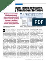 Distillation Column Thermal Optimization - Employing Simulation Software