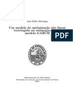 Estimação de um modelo GARCH para estimação da volatilidade