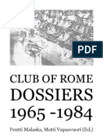 The Club of Rome 'the Dossiers' 1965-1984