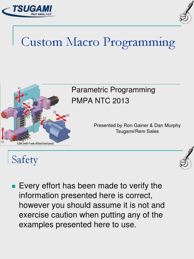 Cnc Macro Programming Workshop | Parameter (Computer Programming) |  Variable (Computer Science)