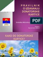 Prezentacija donatorske kartice