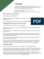 Creating a PLC Program