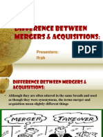 Difference Between Mergers & Acquisitions