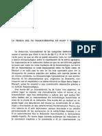 La Teoría Del Yo Trascendental en Kant y en Husserl
