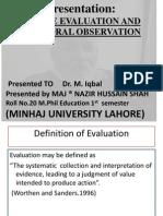 Adverse Evaluation and Behavioral Observation[1].Pptx Final Version