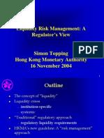 Liquidity Risk Management-HKMA 2004