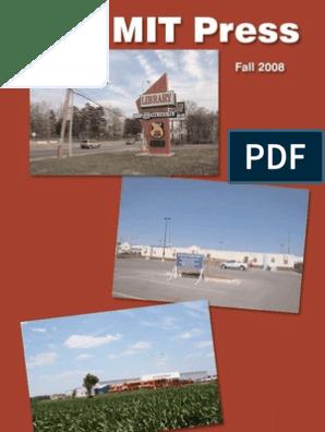 The MIT Press: Fall 2008