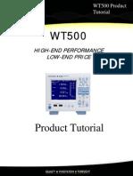 WT500 Product Tutorial