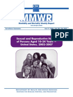 Sexual and Reproductive Health of Persons Aged 10–24 Years