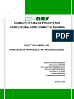 Community Service Projects For Agricultural Development in Rwanda FACAGRO