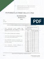 Percubaan UPSR 2014 - Kelantan - Matematik - Kertas 2