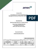 Electrical Data Sheet
