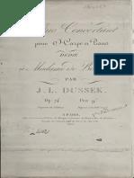 Dussek - 74 - Duo Concertant Pour Harpe Et Piano
