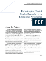 Educ Degree and Teaching Performance