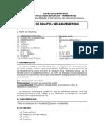 Didactica de La Matematica II