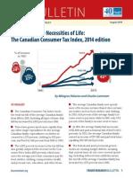 Canadian Consumer Tax Index 2014