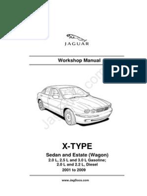 Jaguar XType WorkshopManual on