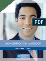 2009 Certification Handbook