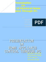 Home Appliance Control Through Pc