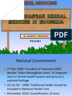 1.Dr. Hardi Pranata PERKEMBANGAN HERBAL MEDICINE DI INDONESIA (Bungas Arisudana's Conflicted Copy 2014-02-10)