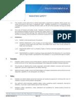 Policy Statement 6.14 Radiation Safety