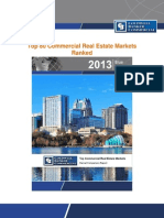 Top 80 Commercial Real Estate Markets Ranked