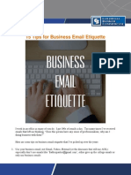 15 Tips for Business Email Etiquette