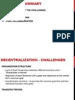 Decentralization - P&G