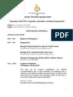 PROGRAMA FORO GLOBAL AGROALIMENTARIO 2008