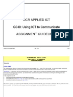 OCR as Unit 1 Assignment Guidelines
