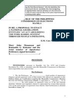 People's Initiative Petition vs Pork Barrel (Updated August 13, 2014)