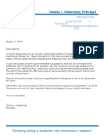 Holiday Hill Parent Letter- Extended School Day