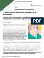 """Horacio González - """"Las Universidades Viven Perdiendo Su Autonomía"""""""