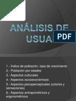 Analisis de Ususario de Mall Puno