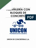 Albañileria Con Bloques de Concreto - UNICON
