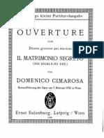 Cimarosa - Il Matrimonio Segreto Ov FS Sibley.1802.15151