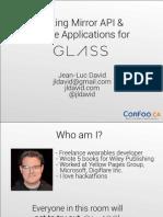 Google Glass Tutorial